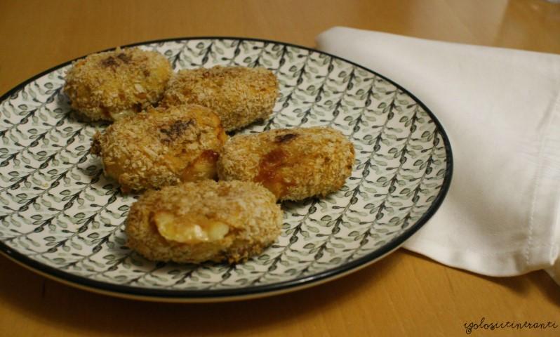 Korokke di patate dolci con curcuma e asiago