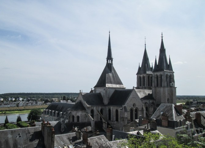 Vista di Blois dall'alto