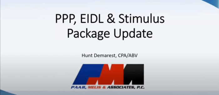 Everything You Need To Know About Your PPP Loan Webinar with Hunt Demarest