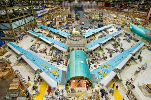 3 - 747-8 Wing Sets in the 747 Factory in EverettK64744