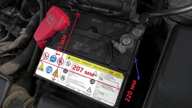 Размеры аккумулятора Киа Соул АМ бензин 1.6 л