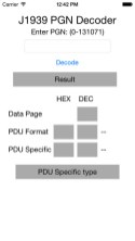 J1939 PGN Decoder App for iPhone
