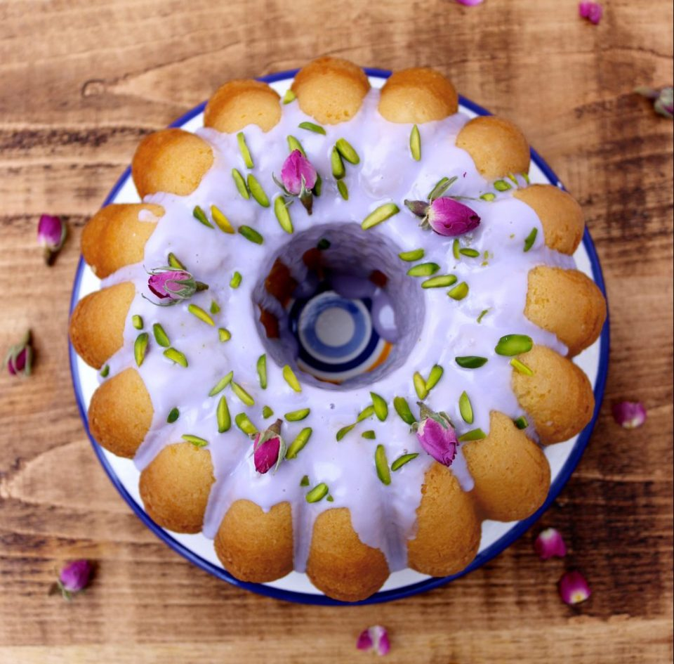 Maman's Rose Pistachio Cake   I got it from my Maman