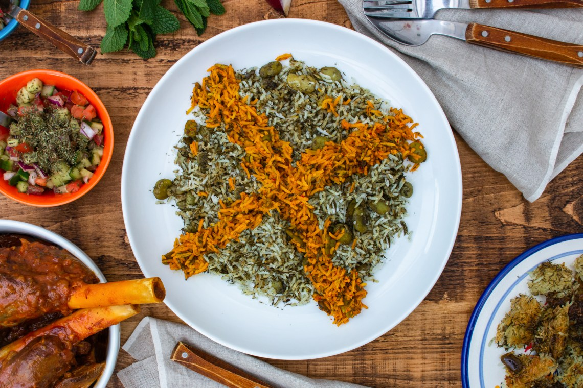 Baghali Polo   Persian Rice with Dill and Broad Beans   igotitfrommymaman.com