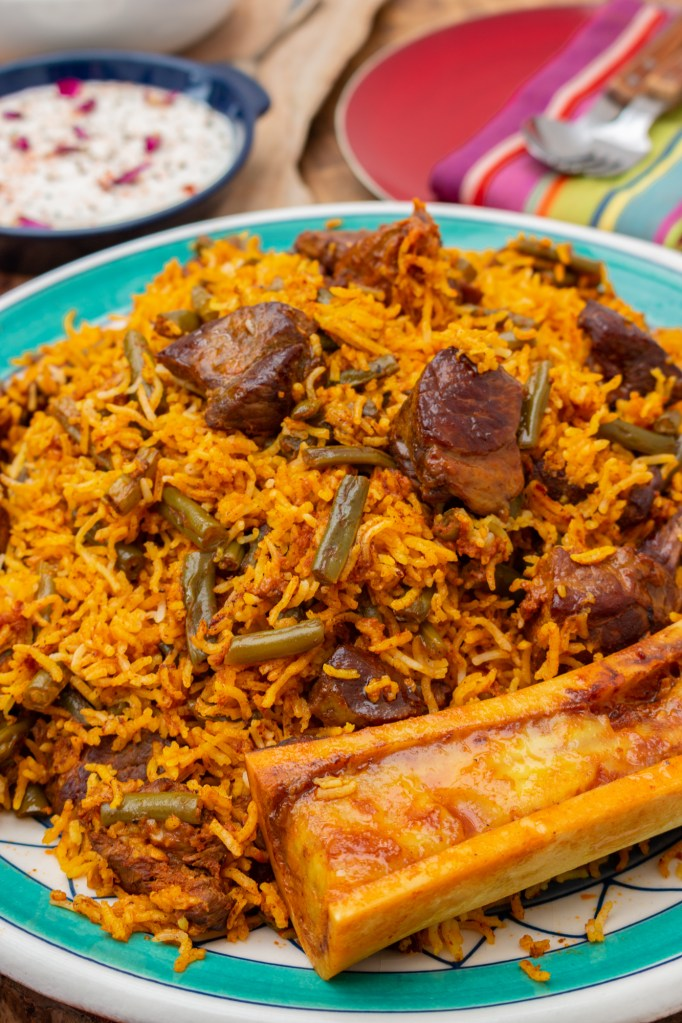 Loobia Polo Recipe | Persian Lamb and Green Bean Rice | igotitfrommymaman.com