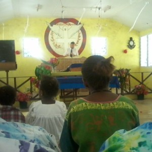 Preaching at Village Church