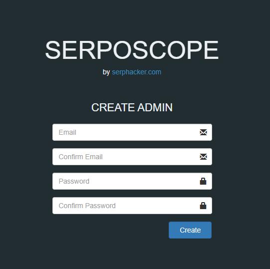 SERPOSCOPE_ログイン画面