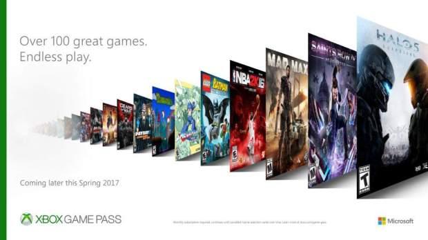 Сервис Xbox Game Pass более 100 игр по подписке