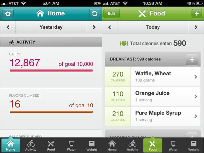 Fitbit mobile app
