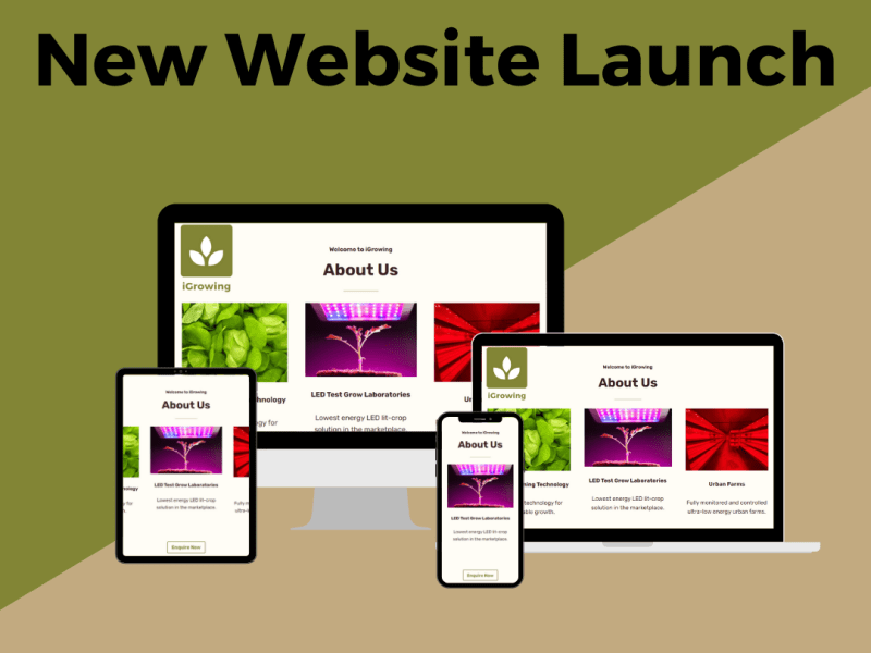 www.iGrowing.co.uk New Website Launch 2021