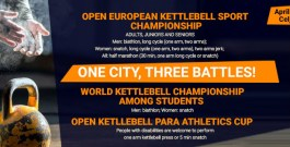 The timetable of the open European Championship in Kettlebell Lifting, April 26-30, 2018, in Celje, Slovenia