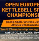 Invitation and regulations on the Open European Kettlebell Sport Championship among veterans, April 26-30, 2018, Celje, Slovenia