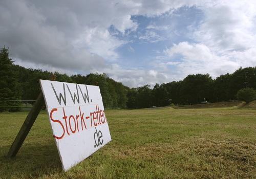Stork Website-Hinweisschild