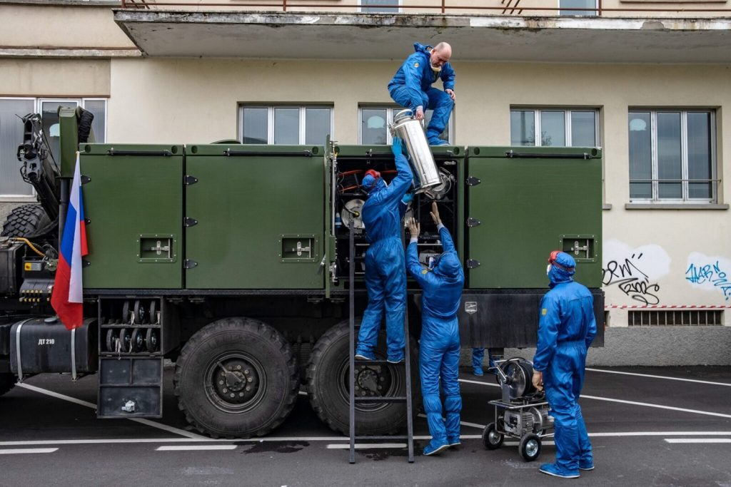 Russia is threatening an Italian newspaper over the report revealing the true objective of the Russian military team deployed in Italy 11