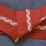 袢纏(半纏)の帯の締め方 – 男結び –