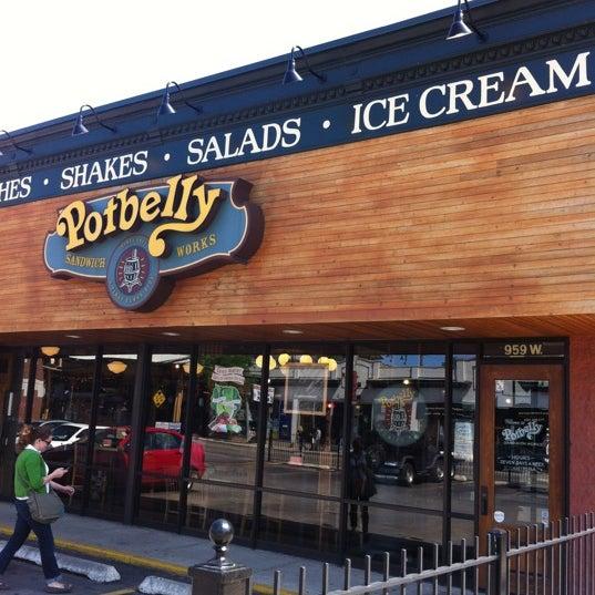 Potbelly Sandwich Shop Sanduicheria Em Chicago