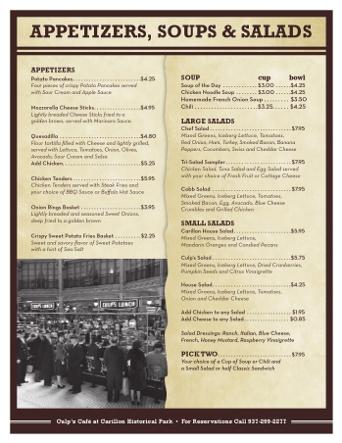 Culps menu small
