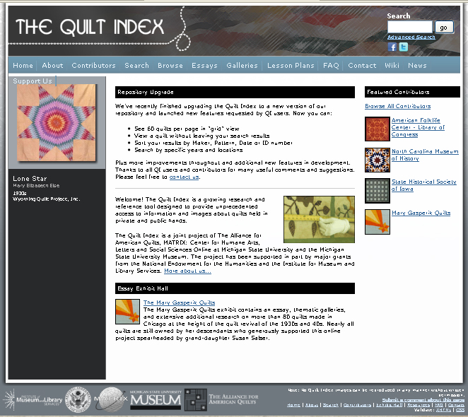QuiltIndex webshot