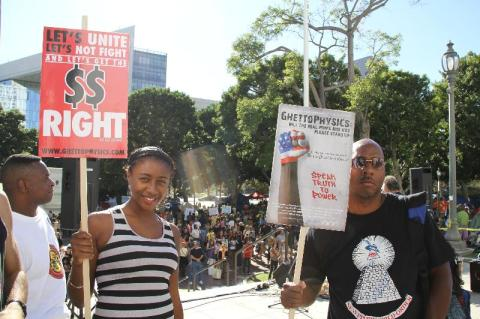 E. Raymond Brown at Occupy L.A.