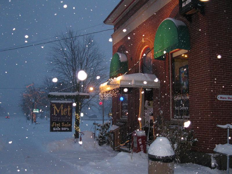 Snow in North Conway