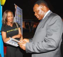 Bekele with PS Ndemo of kenya