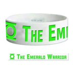 GREEN LANTERN EMERALD WARRIOR RUBBER BRACELET