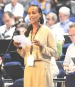 Sophia Bekele speaking at ICANN Cartegena