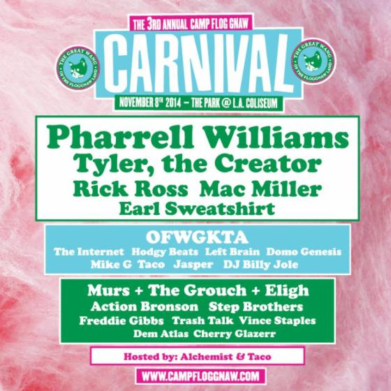 pharrell williams, carnival, rick ross, mac miller, earl sweatshirt