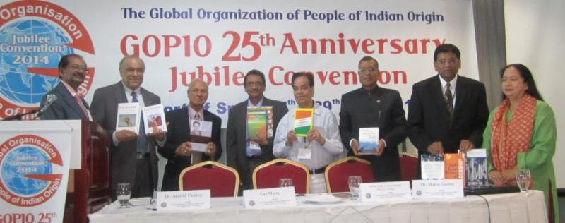 Release of books at the GOPIO Jubilee Convention 2014 in Trinidad and Tobago