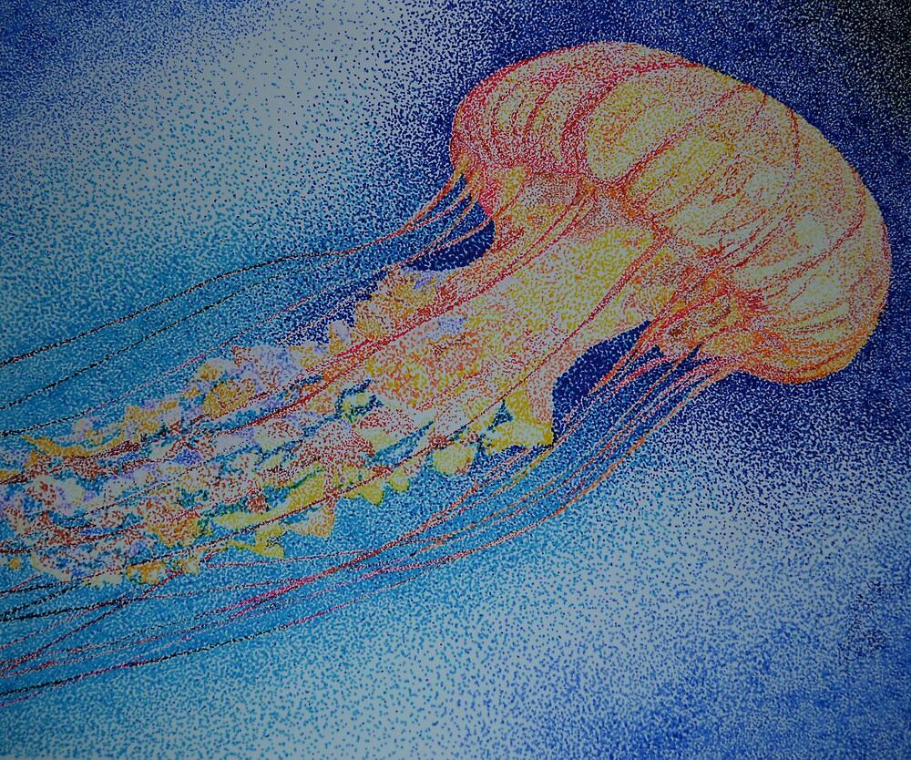 Pointillist Jellyfish By Dacey Barnes Redbubble