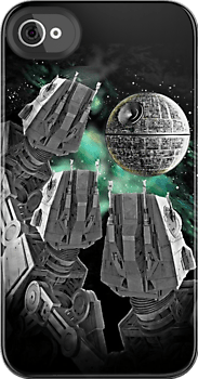 Awesome funny AT-AT Star Wars Death Star iphone 4/4s case at RedBubble