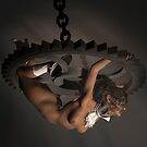 Suspension - Steampunk Burlesque Nude 3D artwork by Jennie Rosenbaum