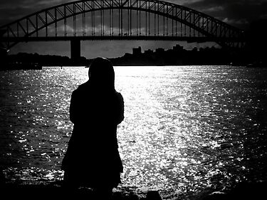 Sydney Harbour Bridge silhouettes