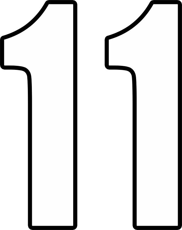 Football Soccer 11 Eleven Number Eleven Eleventh