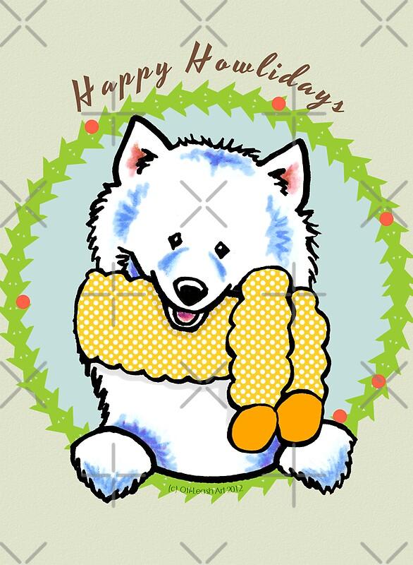 Samoyed Happy Howlidays Christmas Card Greeting Cards By