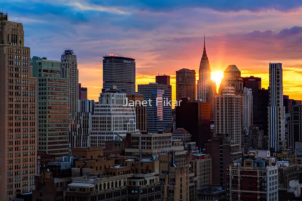 Sunrise Over New York By Janet Fikar Redbubble