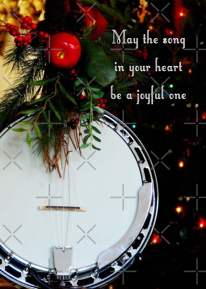 Joyful Song Banjo Christmas Greeting Card By NestToNest Redbubble