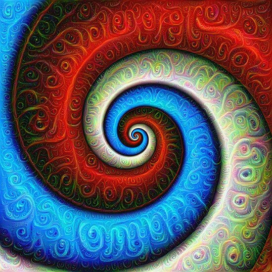#DeepDream Color Fibonacci Visual Areas 5x5K v1448886494
