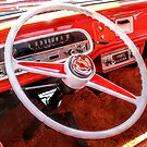 Retro Red Steering wheel by JulianneB
