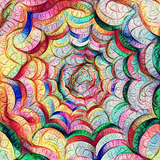 Spider web #DeepDream C