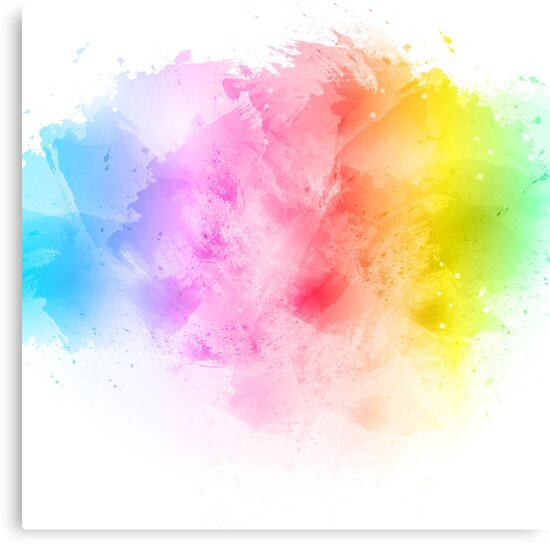Rainbow Abstract Artistic Watercolor Splash Background