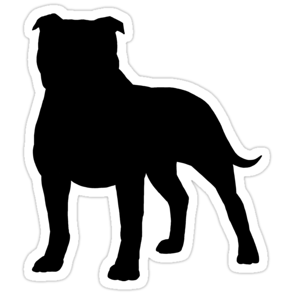 Staffordshire Bull Terrier Silhouettes Stickers By