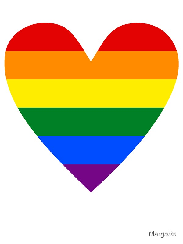 LGBT Heart Stickers By Margotte Redbubble