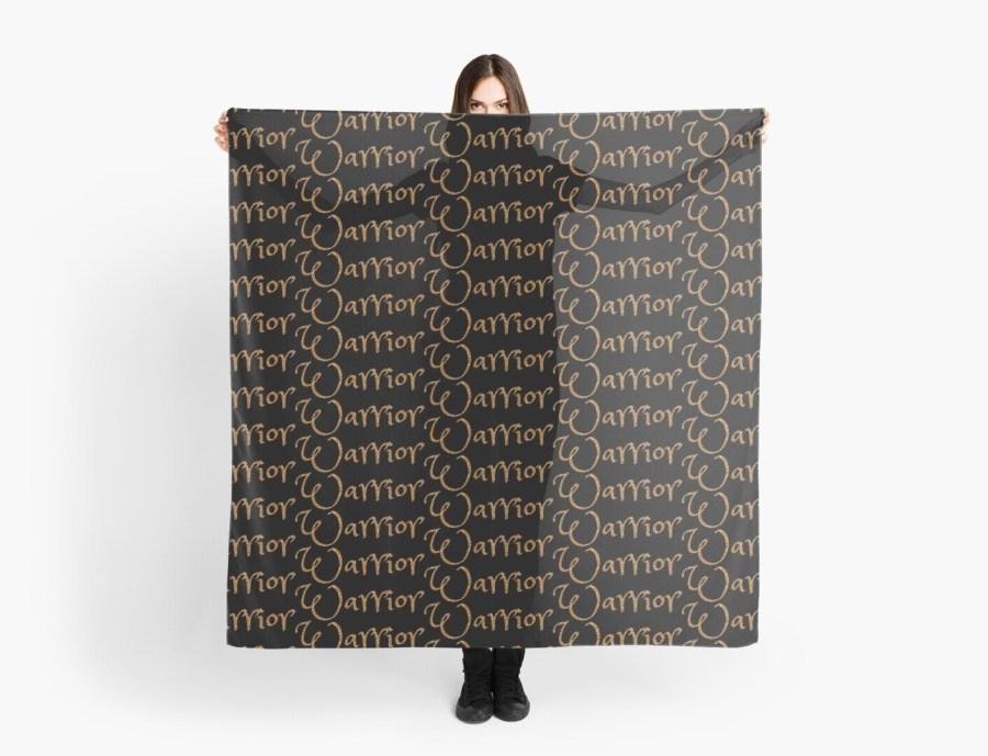 Black & Gold WARRIOR Scarves