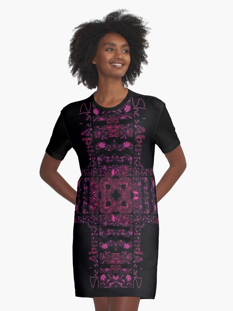 She's Abundantly Blessed Cross Graphic T-Shirt Dresses