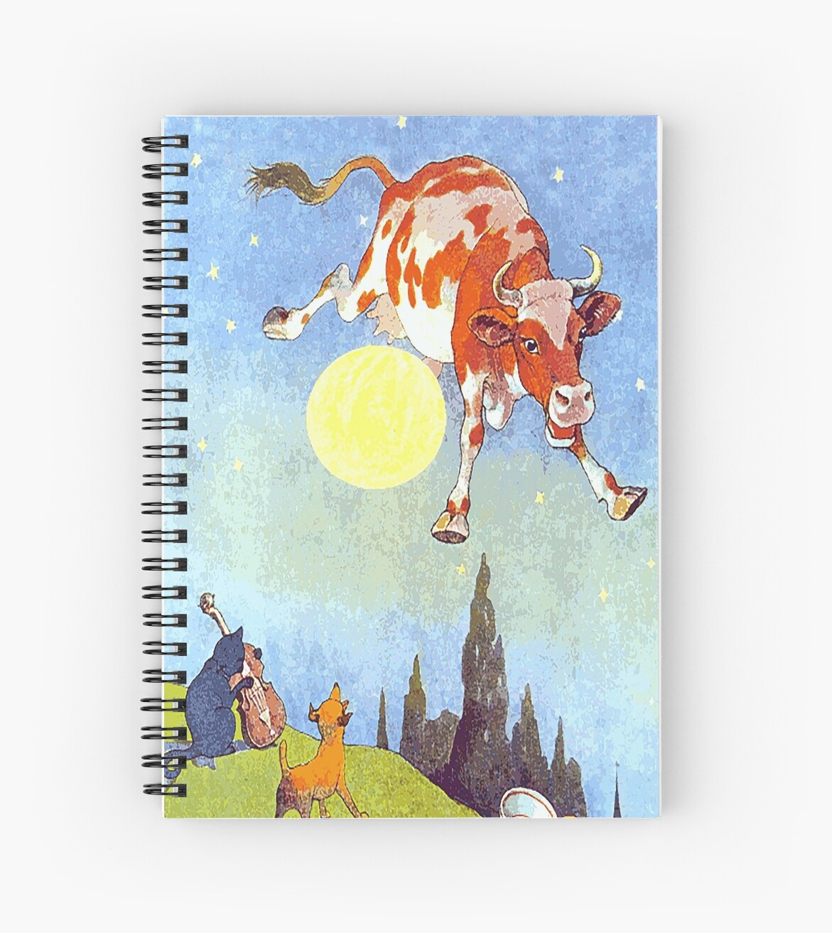 Nursery Rhyme Hey Diddle Diddle Spiral Notebook By