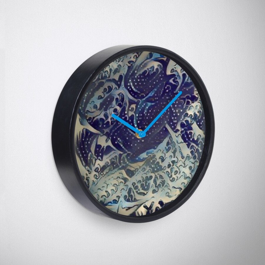Christian Abstract Art: MANY WATERS Clock
