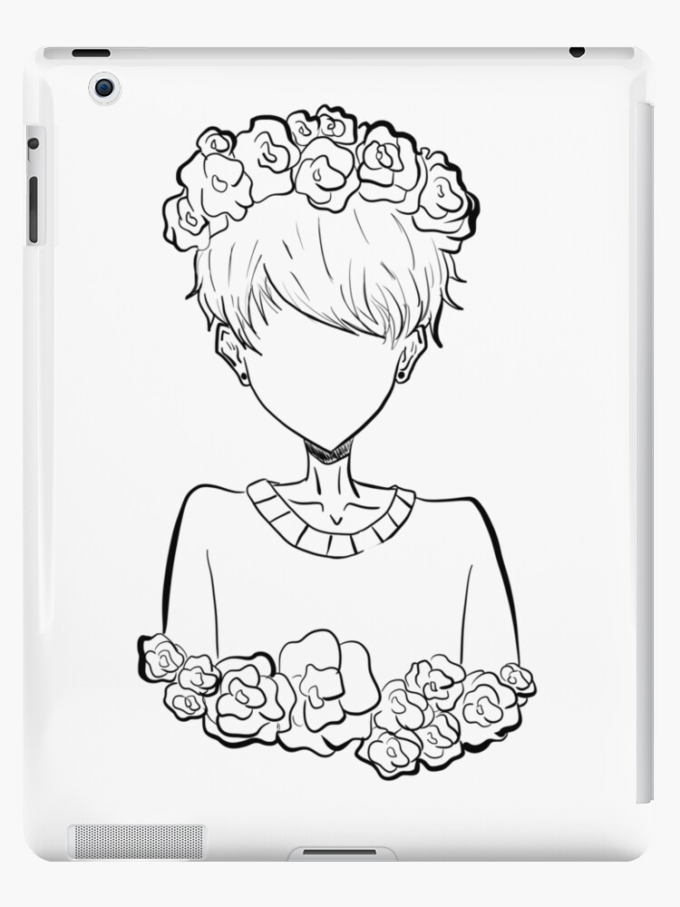 """aesthetic pastel tumblr rose boy"" ipad cases & skins"