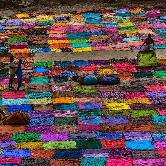 Product image link to buy 'Laundry Day in India' Photographic Print by Glen Allison