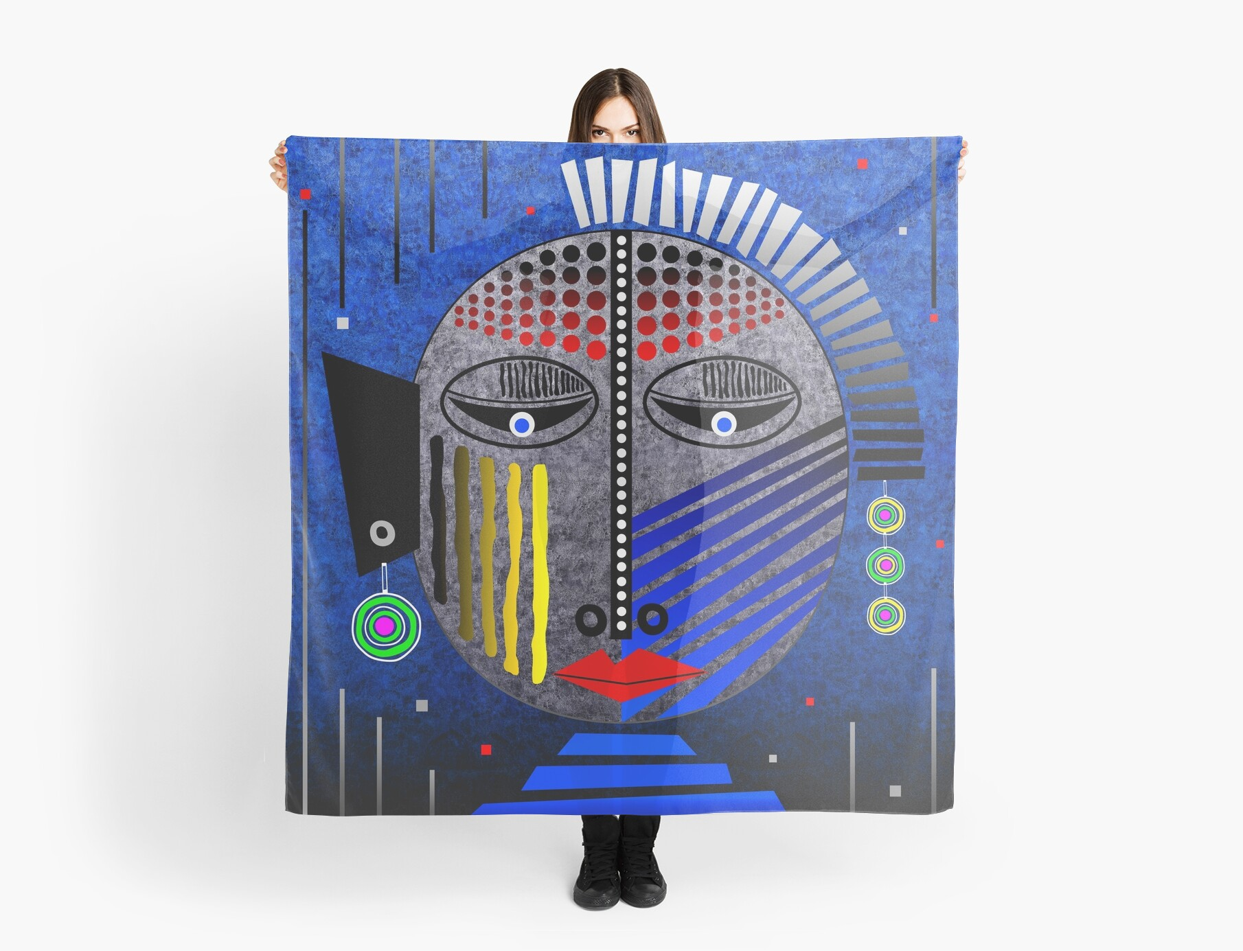 'Tribal Whimsy 12' Scarf products by renowned vagabond fine art travel photographer, Glen Allison